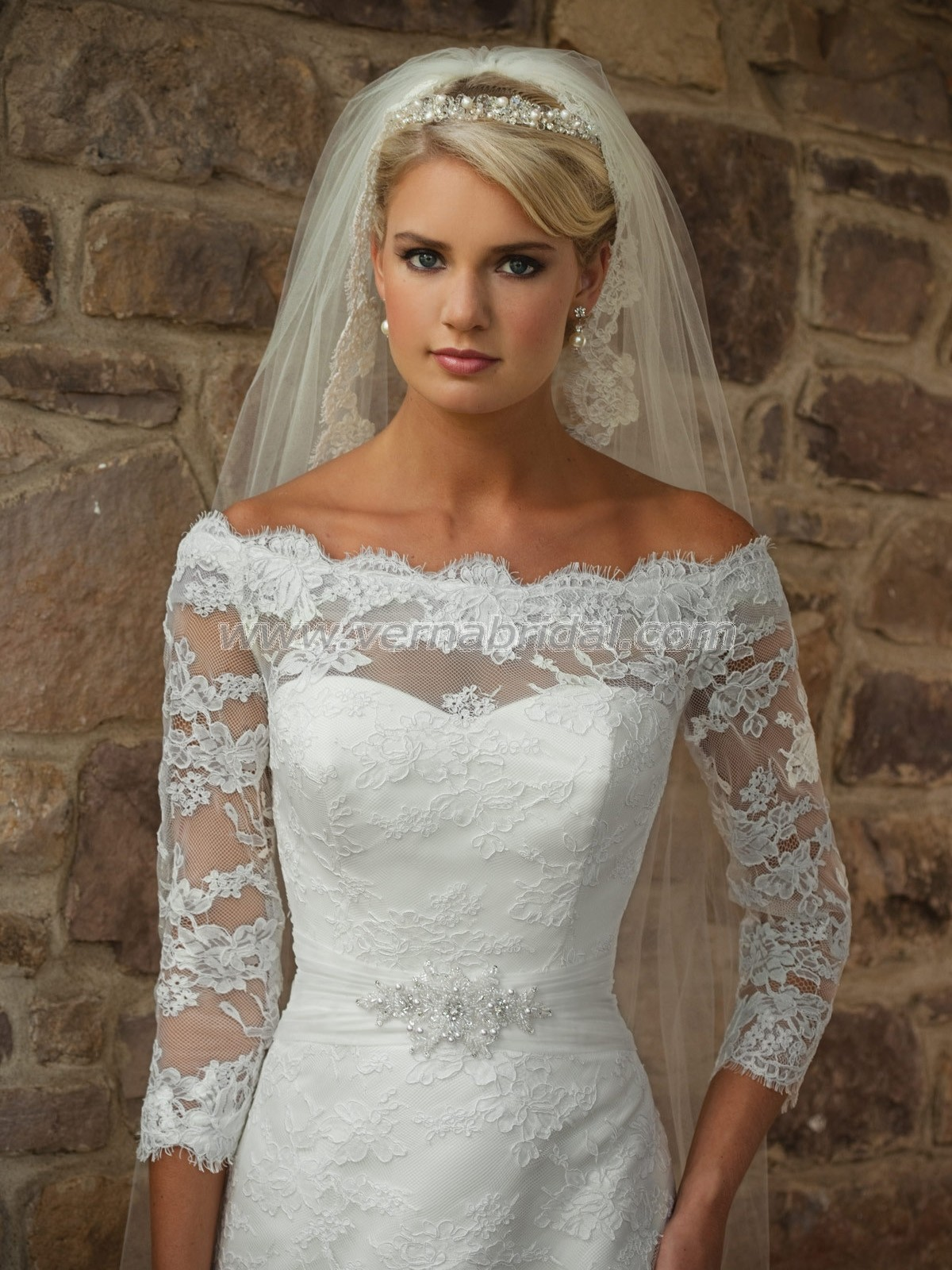 Wedding Dress With Lace Sleeves : Romantic wedding dresses with lace sleeves sangmaestro
