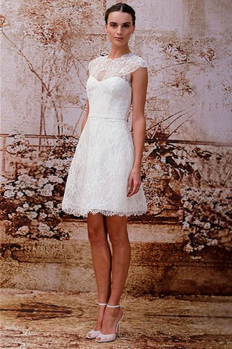 beautiful short wedding dress from Monique Lhullier