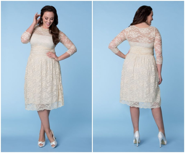 plus size short lace wedding dresses