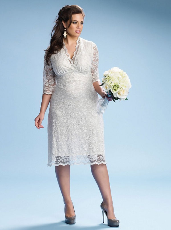 plus size short wedding dress