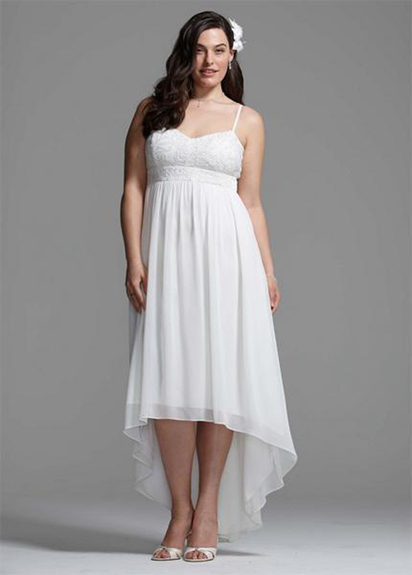 elegant plus size short wedding dresses under 100 sang