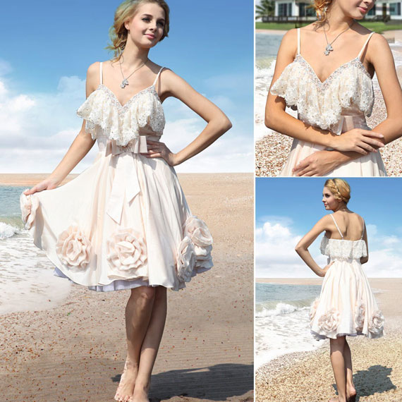 sexy short beach wedding dresses