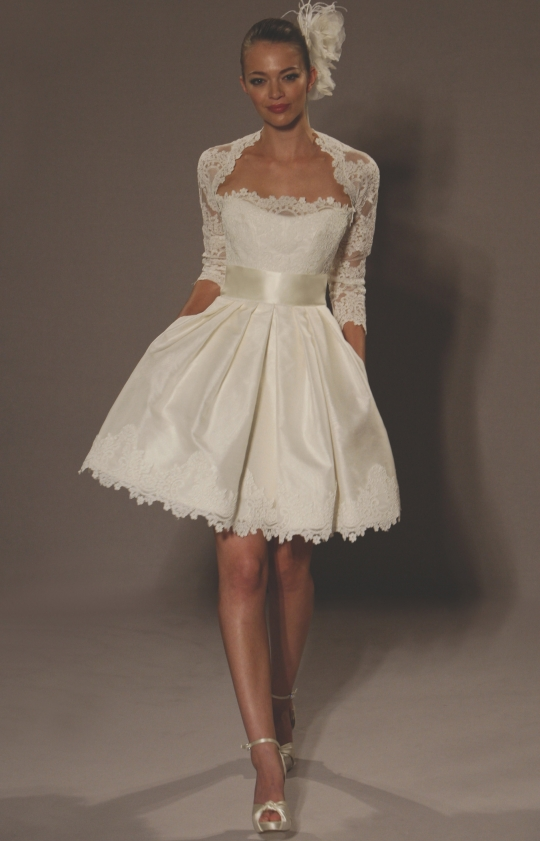 short vintage sexy lace wedding dress