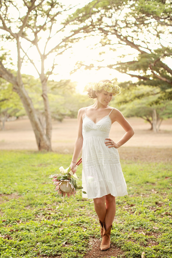 short wedding dresses with cowboy boots sang maestro