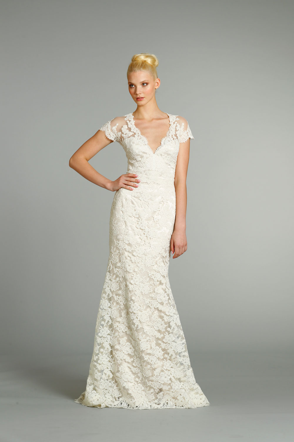 Dress For A Fall Wedding fall lace wedding dress with