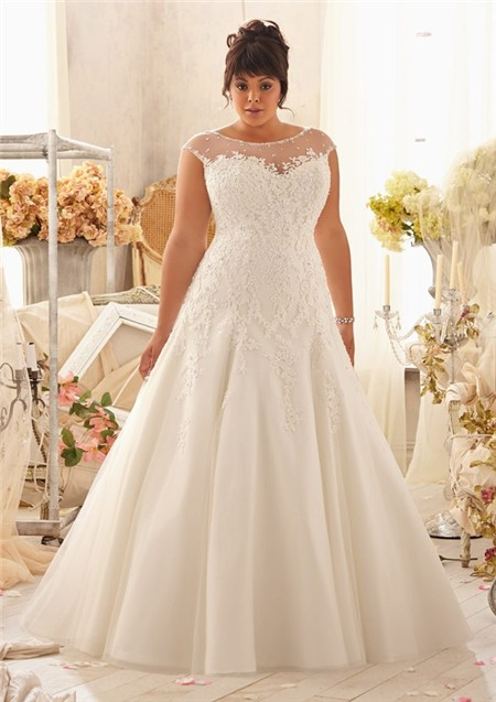 Elegant Fall Plus Size Wedding Dresses With Sleeves For Modest - Plus Size Fall Wedding Dresses