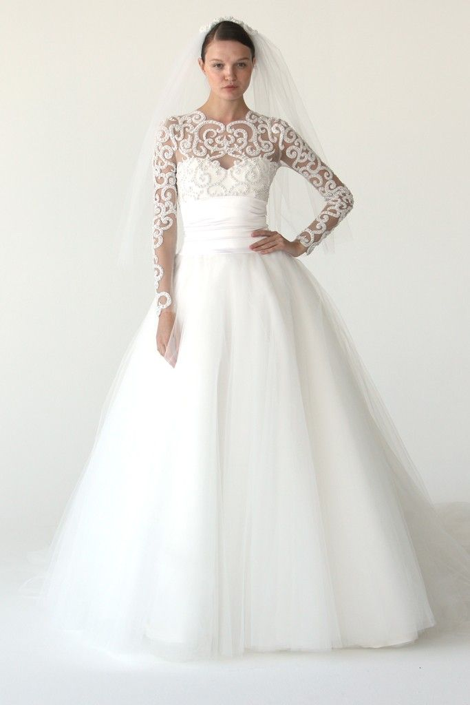 Wedding Dress With Unique Sleeves Photo Is Via Wedding Bee