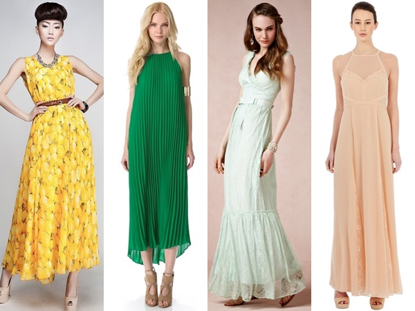 spring sleeveless wedding guest dresses