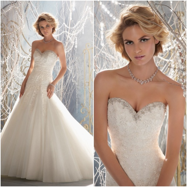 beaded sweetheart neckline wedding dress with ball gown