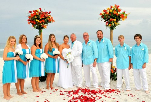 blue beach wedding attires for men