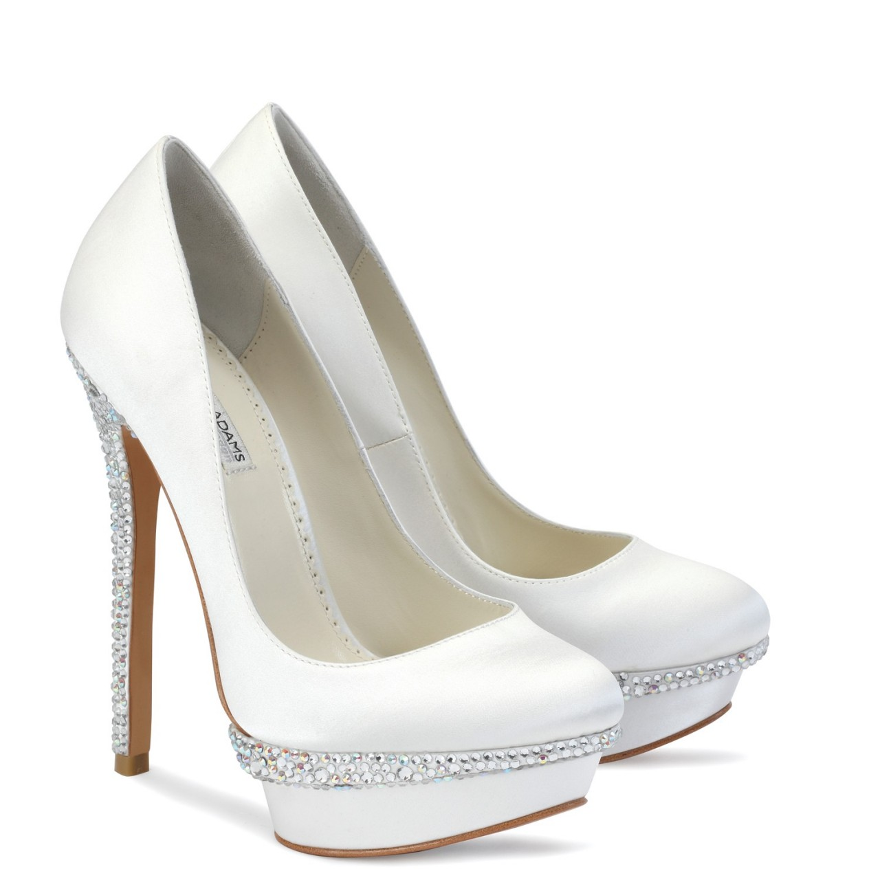 wedding shoes with high heels and close toe
