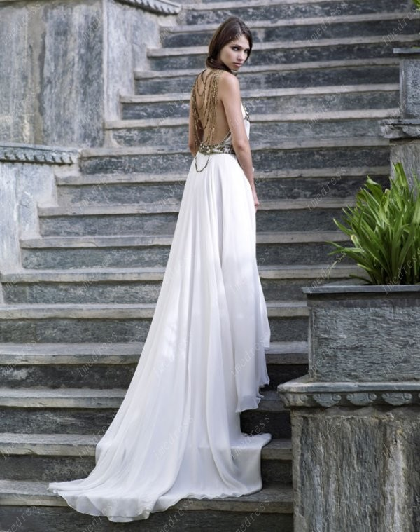 gorgeous backless boho wedding dresses sang maestro