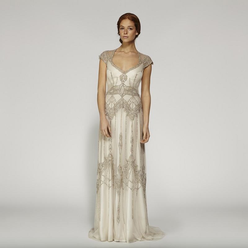 beaded vintage designer wedding dress | Sang Maestro