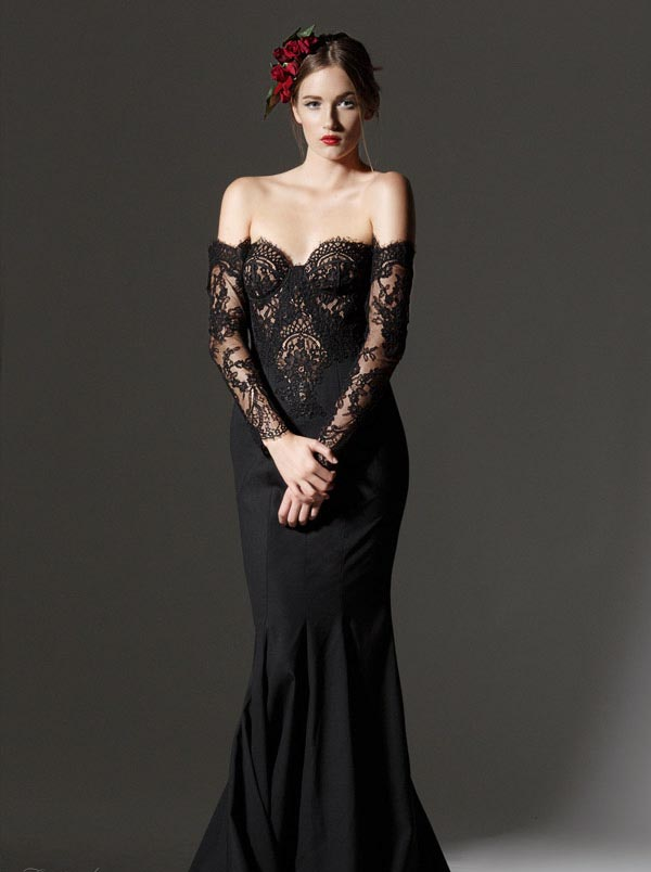 10 gorgeous black lace wedding dresses sang maestro