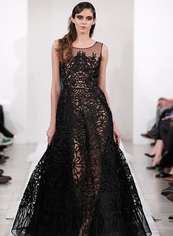 black lace sleeveless a-line wedding dress