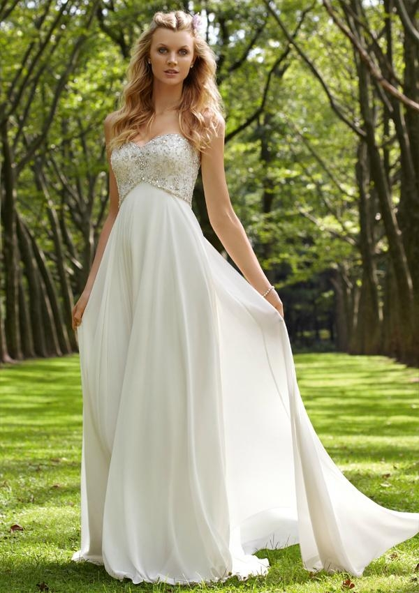 casual summer outdoor wedding dress sangmaestro