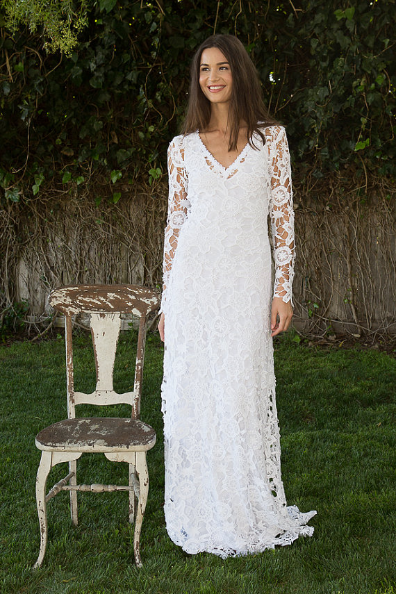 boho wedding dresses with sleeves sangmaestro