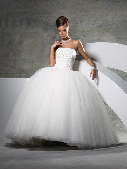 big princess strapless wedding dress