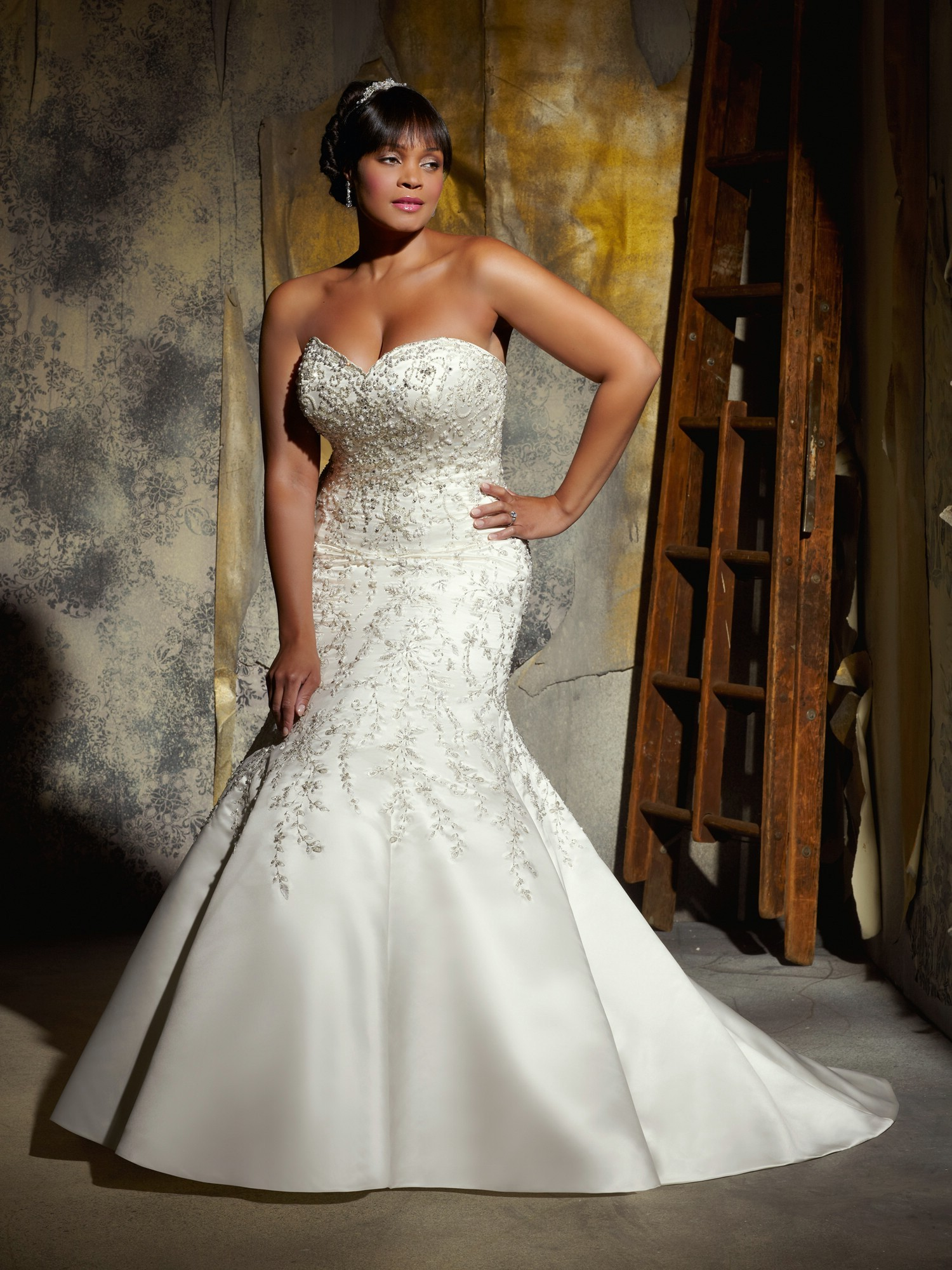 plus size wedding dresses with mermaid style