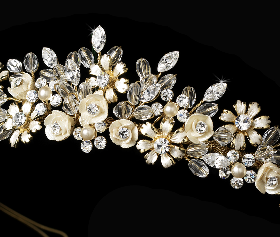 gold wedding tiaras