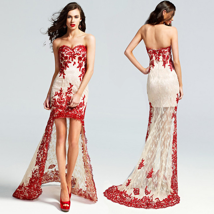 short red and white wedding dress sang maestro
