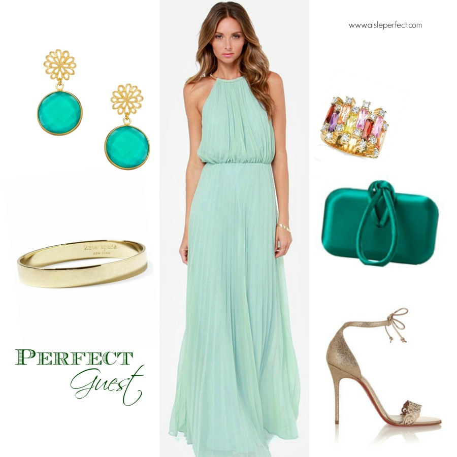 summer mint wedding guest outfit