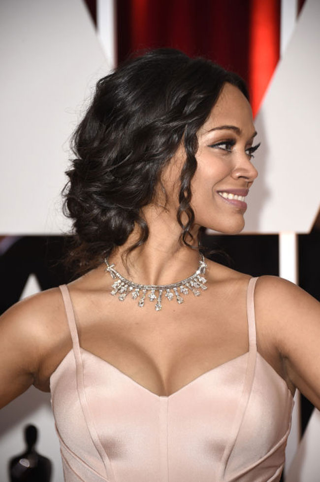 Zoe Saldana best inspired wedding hairstyles