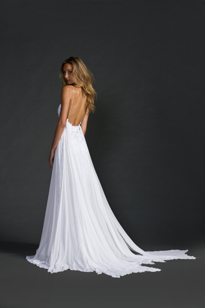 backless beach wedding gown