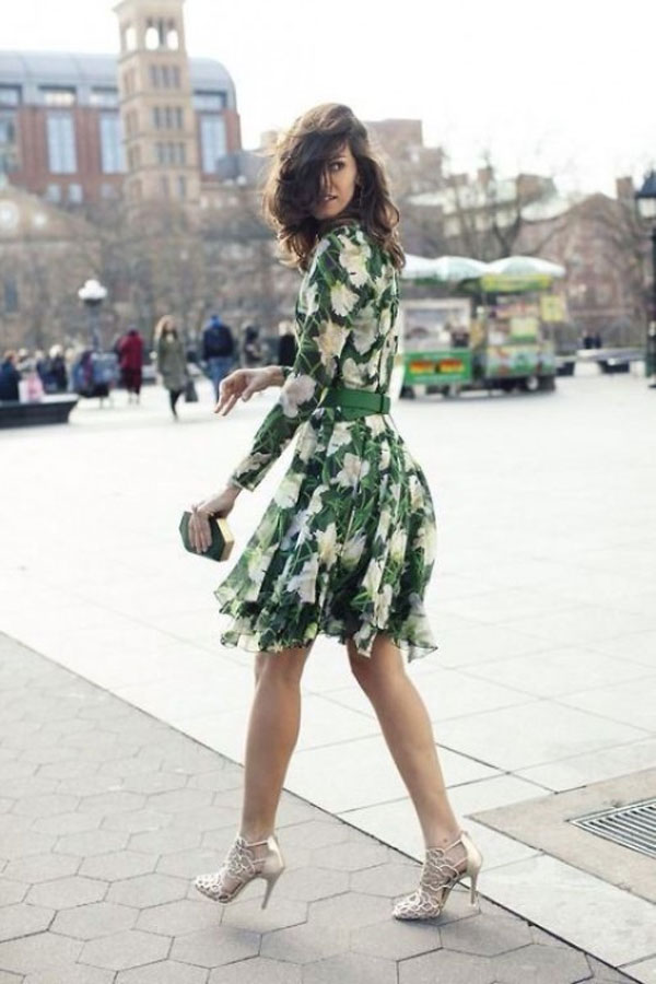 spring green wedding guest outfit ideas
