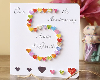 creative wedding anniversary card design for husband