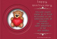 free sample wedding anniversary card for parents