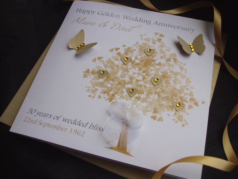 handmade wedding anniversary card idea