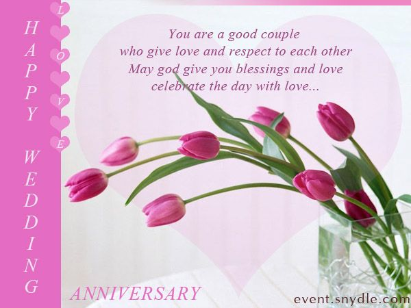 pink wedding anniversary card design
