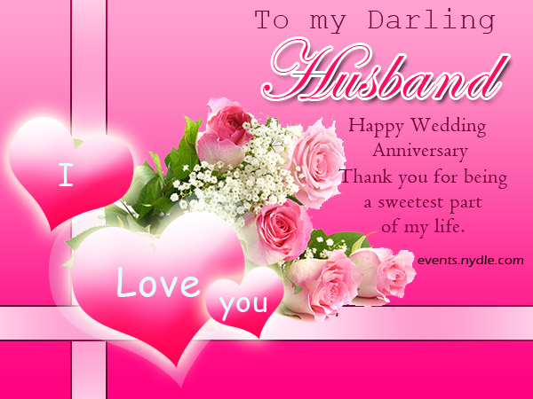 pink wedding anniversary card for husband