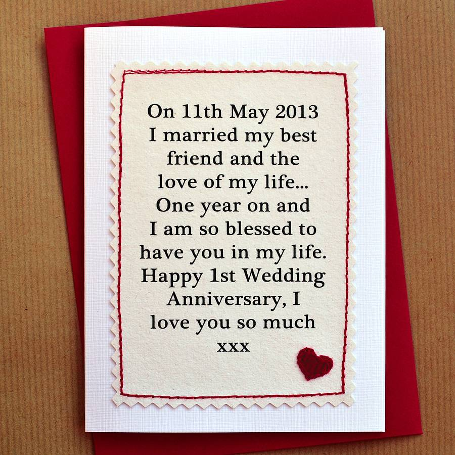 simple wedding anniversary card for husband