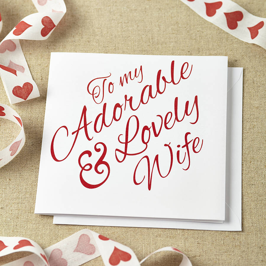 Cute designs of wedding anniversary cards for wife