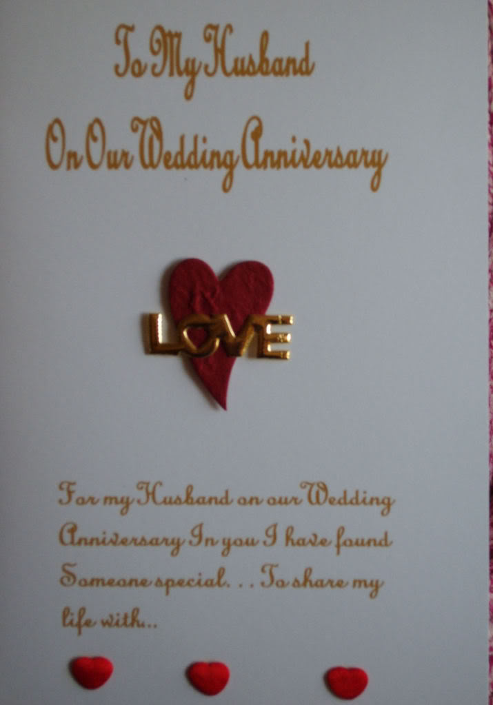 wedding anniversary card for lovely husband
