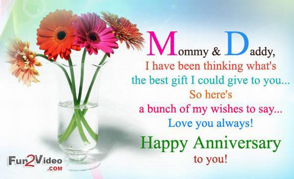 wedding anniversary card for parents