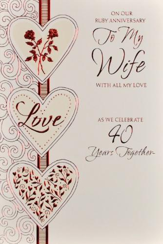 wedding anniversary card for wife from picturethiscards