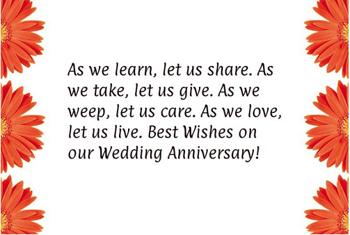 wedding anniversary card for wife with quotes