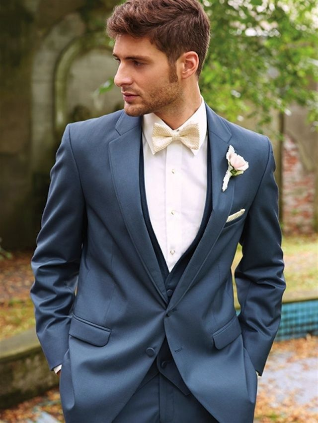 blue wedding attire