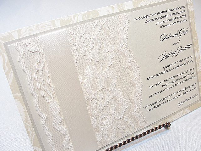 free lace wedding invitation