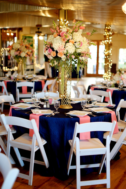 navy blue wedding decoration