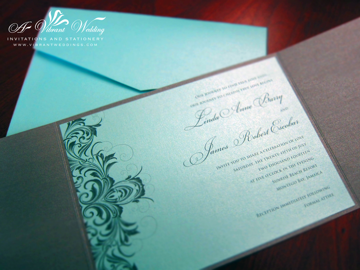 tiffany blue and grey wedding invitation ideas