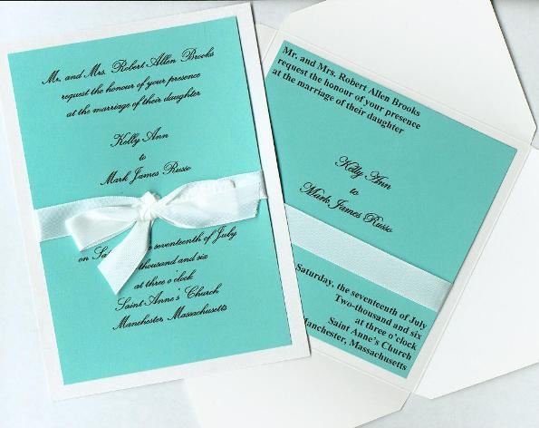 tiffany blue wedding invitation