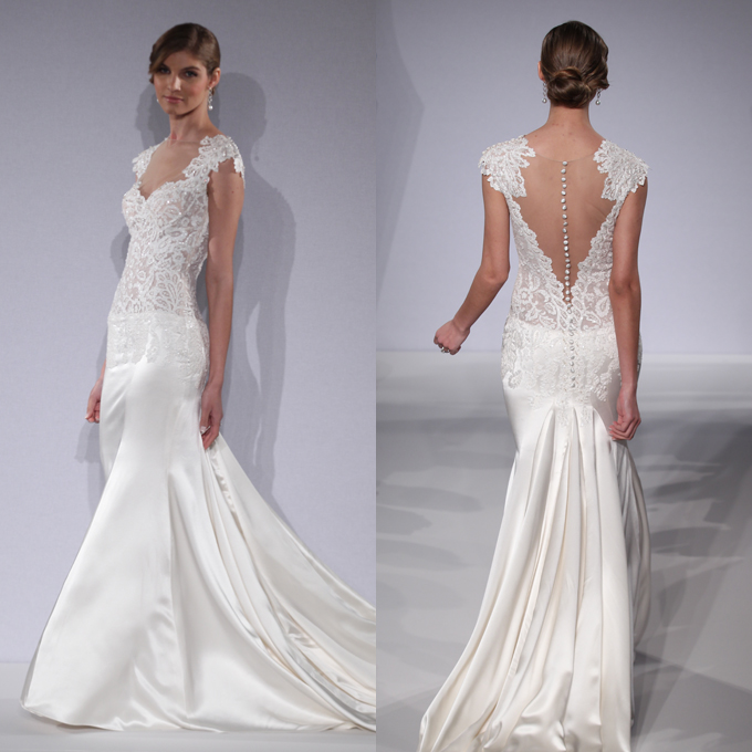 spring wedding dress with open back