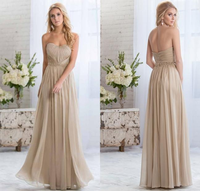 light gold bridesmaid dress