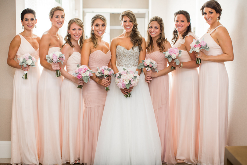 Light Gold Bridesmaid Dresses With Sweetheart Neckline