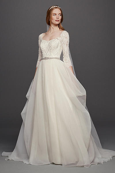 amazing organza wedding dress with sleeves