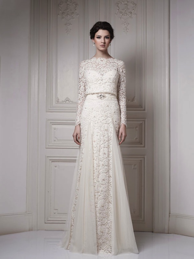 10 Gorgeous Vintage Wedding Dresses with Sleeves | Sang Maestro